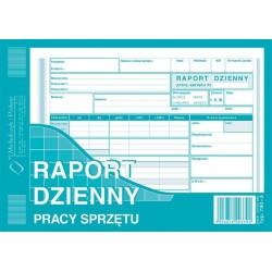 Druk Raport dzienny sprzętu pracy  A5 790-3
