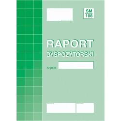 Druk Raport Dyspozytorski SM/106   804-1