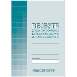 Druk Rejestr Mycia i Dezynfekcji Komory Ładunkowej Środka Transportu H91-3