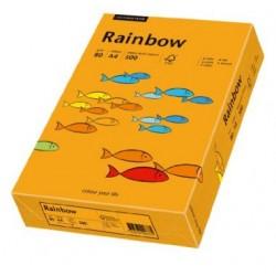 Papier Rainbow A4 160g Pomarańczowy 24