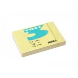 Notes Samoprzylepny Tres 50x75mm Żółty
