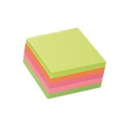 Notes Samoprzylepny Tres 75x75mm Neon 400k