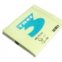 Notes Samoprzylepny Tres 100x75mm Żółty