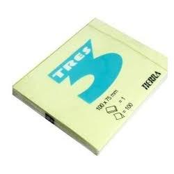 Notes Samoprzylepny Tres 125x75mm Żółty