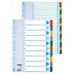 Przekładki Esselte A4 Mylar 1-12 z Kolorowymi Indeksami