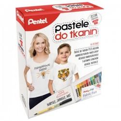 Zestaw Pentel Pastele Do Tkanin z Koszulką