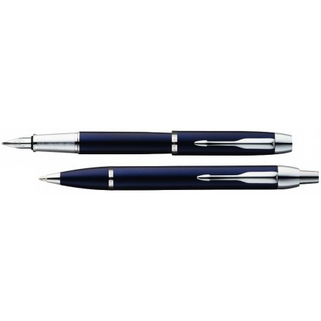 Parker Komplet Długopis+Pióro IM Niebieski CT