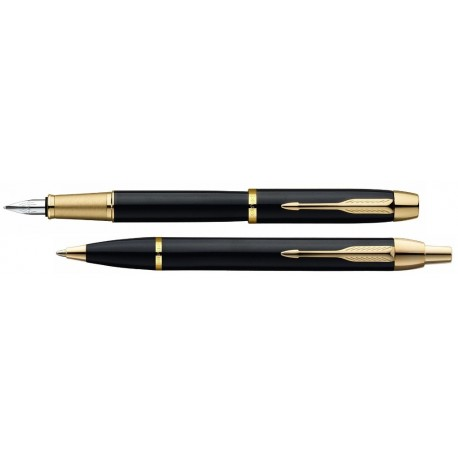 Parker Komplet Długopis+Pióro IM Czarny GT