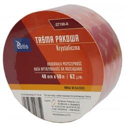 Taśma Pakowa Krystaliczna TETIS 48mmx50m GT-100-A