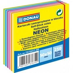 Notes Kostka Samoprzylepna 50x50 Neon-Pastel DONAU 11 warstw
