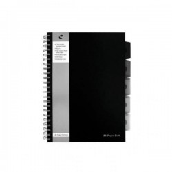Kołozeszyt A4 250k PUKKA PAD Project Book BLACK