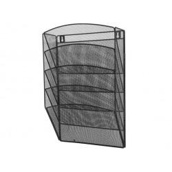 Półka siatkowa metalowa na dokumenty wisząca czarna