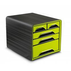 Zestaw 5 szufladek na biurko CEP SMOOVE Zielono-Czarne