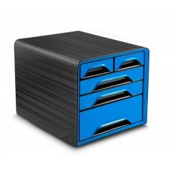 Zestaw 5 szufladek na biurko CEP SMOOVE Czarno/Niebieski