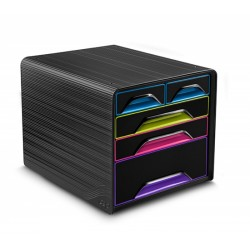 Zestaw 5 szufladek na biurko CEP SMOOVE Czarny/Mix kolorów