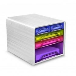 Zestaw 5 szufladek na biurko CEP SMOOVE Biały/Mix kolorów