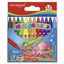 Kredki 12 kolorów świecowe  KEYROAD