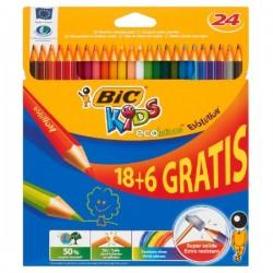 Kredki Bic 18+6 Kolorów Evolution
