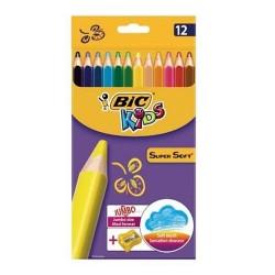 Kredki 12-kol BIC Kids Super Soft