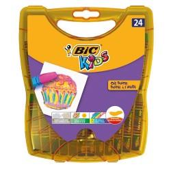 Pastele Olejne 24 Kol. Bic w Plastikowym Pudełku 6205