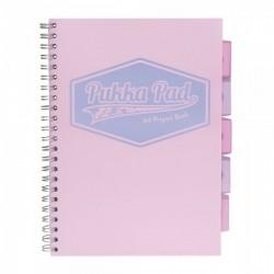 Kołozeszyt A4 200k PUKKA PAD Project Book Pastel Różowy