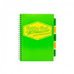 Kołozeszyt B5 100k Pukka Pad Neon Zielony