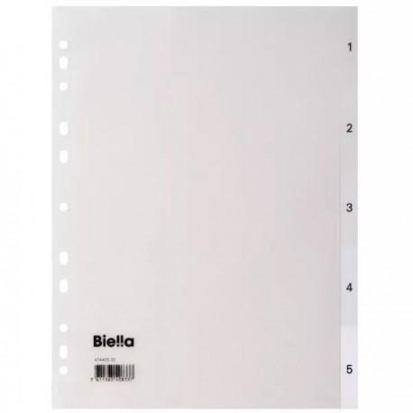 Przekładki Do Segregatora 1-5 Biella Białe