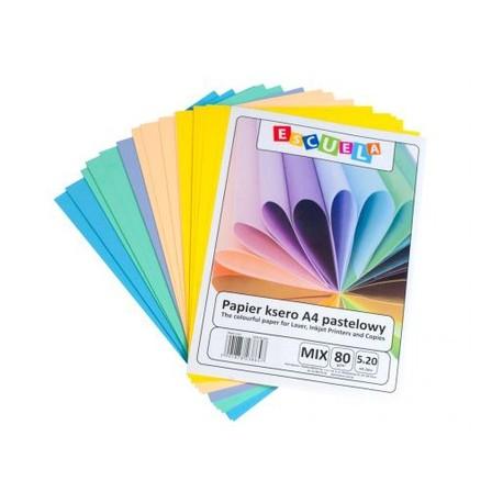 Papier Ksero A4 ESCUELA 80g MIX Pastel 100szt