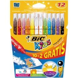 Flamastry Bic Colour & Erase 10+2