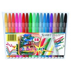 Flamastry Kamet 18 Kolorów