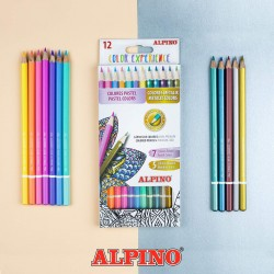 Kredki ALPINO  12 kolorów Pastelowo-Metaliczne